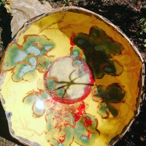 bol ceramic galben
